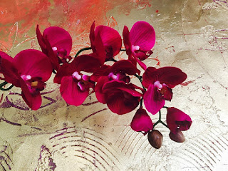 Purple-red orchids