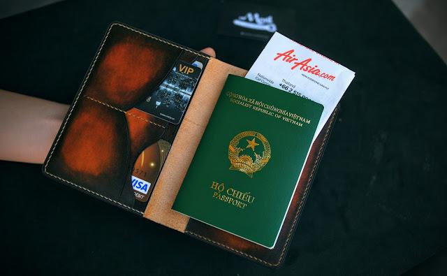 Bao da đựng Passport tại Đà Nẵng