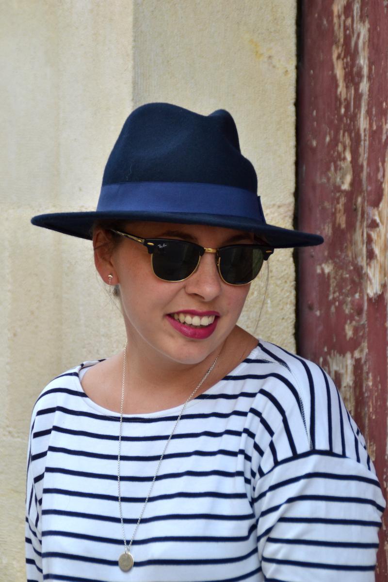 mariniére H&M, chapeau feutrine Aleane officiel