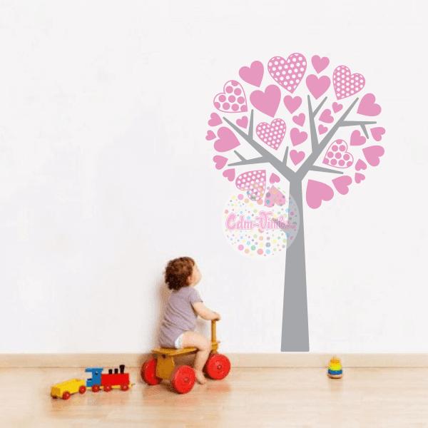vinilo decorativo pared infantil decor tus ambientes fcil rbol corazones