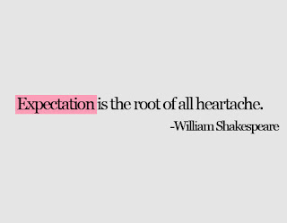 William Shakespeare Quote about expectation