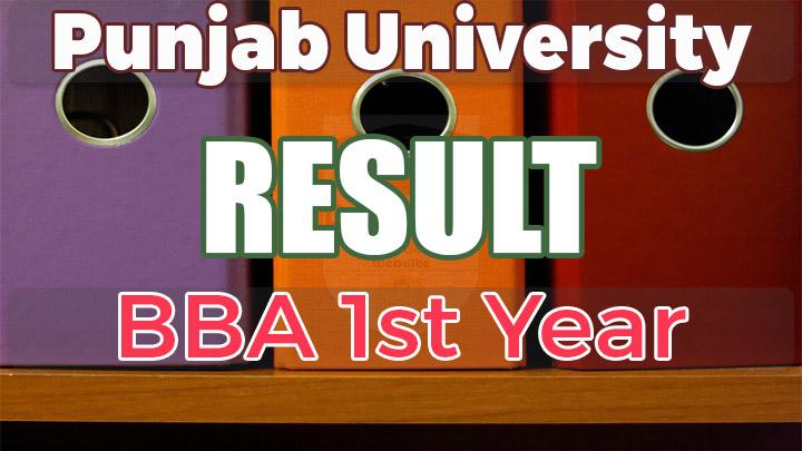 BBA Hons 1st Year Result 2017 Punjab University