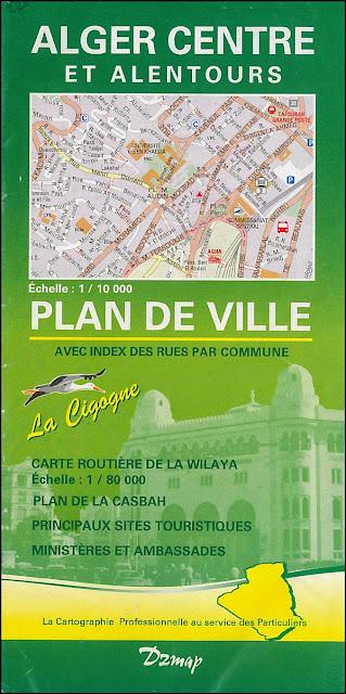 Carte touristique d'Alger