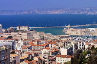 Vistas de Marsella desde Notre-Dame de la Garde.