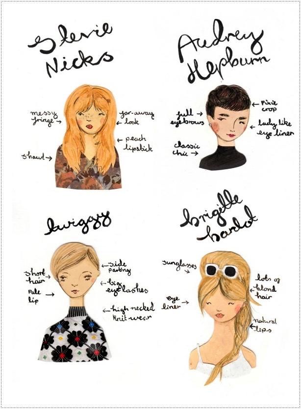 Ícones de estilo recriados por uma ilustradora fashion