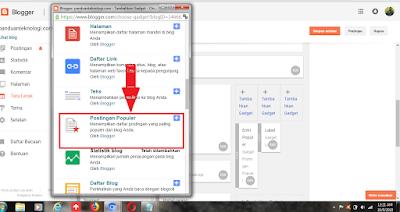 Cara memasang widget Blog