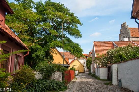 Calle de Visby en Gotland