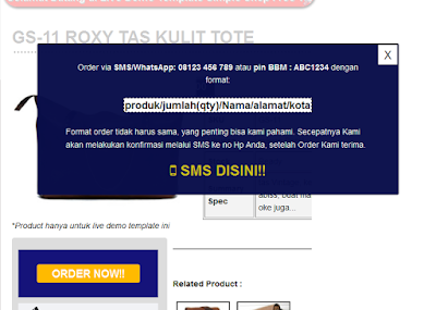 popup order via sms
