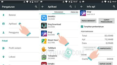 Cara Logout Smule Android