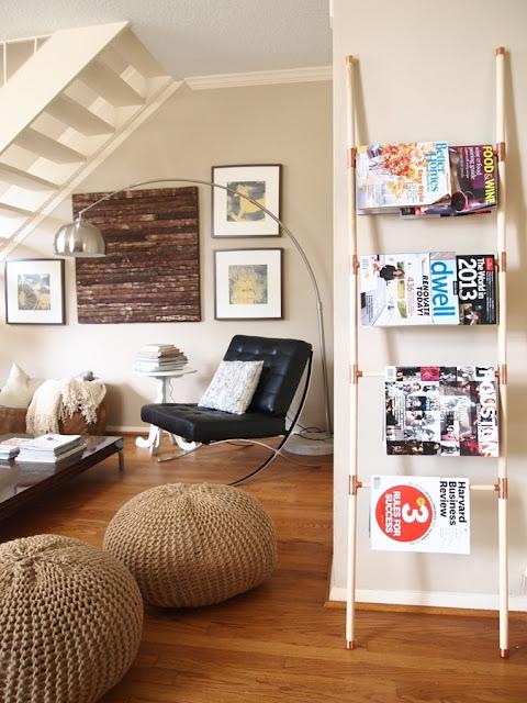 Escalera para colocar revistas