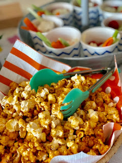 Indian baby shower food idea caramel popcorn