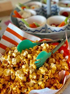 Indian baby shower food idea caramel popcorn