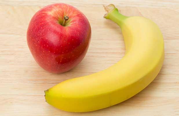 رجيم الموز والتفاح للتخسيس السريع