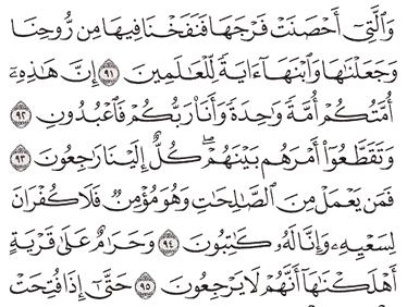 Tafsir Surat Al-Anbiya' Ayat 91, 92, 93, 94, 95