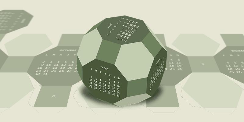 Cuboectaedro Truncalendario 2017