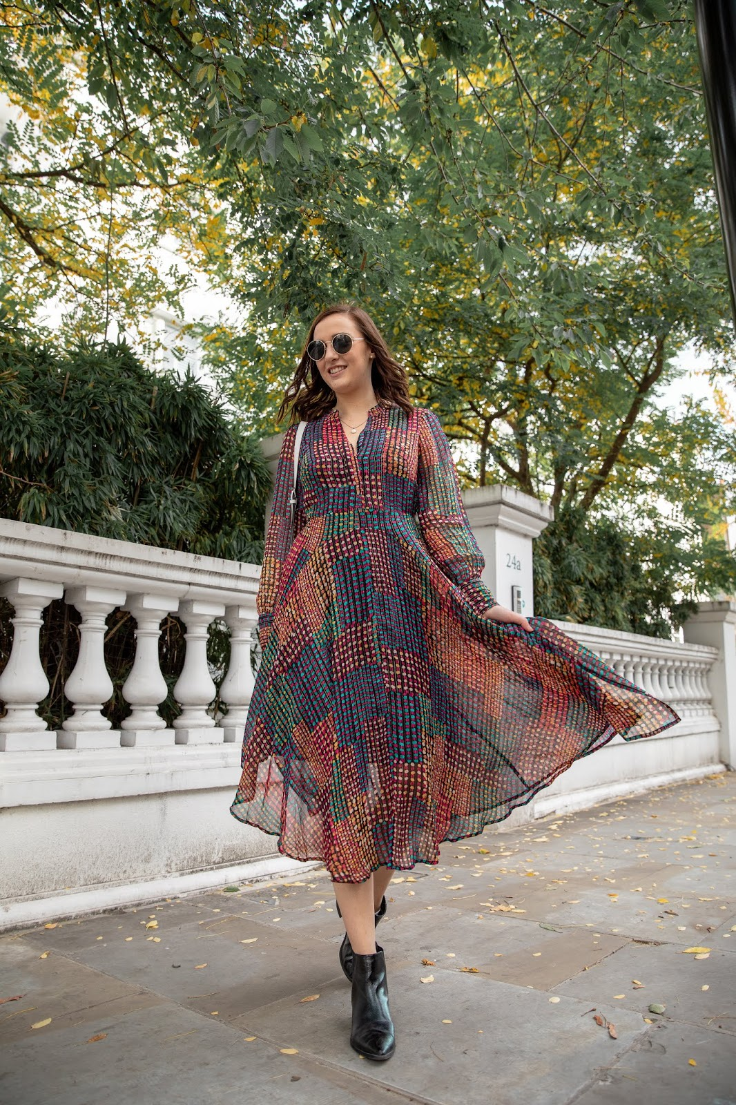 The Perfect Dress For Autumn - Monsoon // Lauren Rose Style // Street Style London Fashion Blogger Outfit