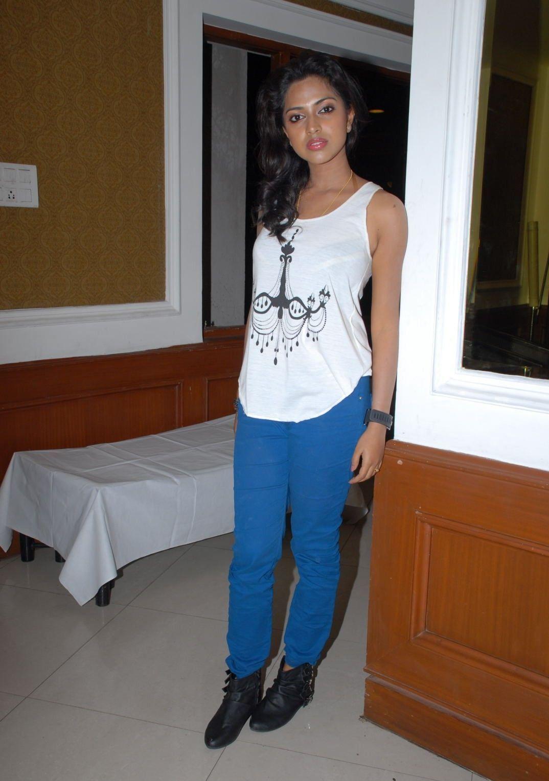 Beautiful Tamil Girl Amala Paul Stills in White Dress