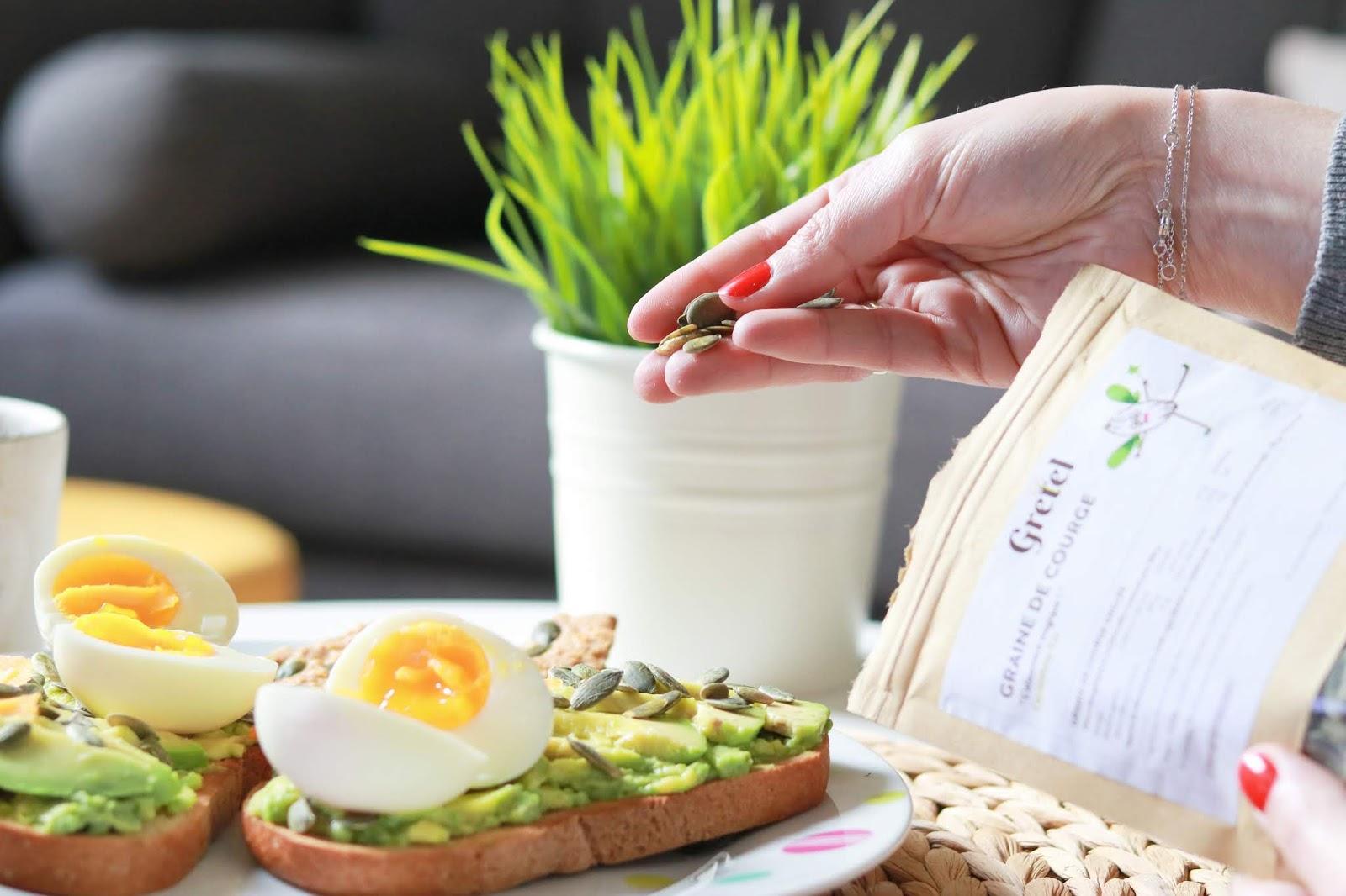 avocado toast avocat recette facile simple rapide brunch oeuf gretel box abonnement avis arcos les gommettes de melo ingrédients