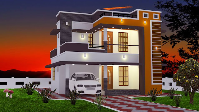 Low Cost 2 Bedroom Double Storey Home in 965Sqft for 16 Lakhs