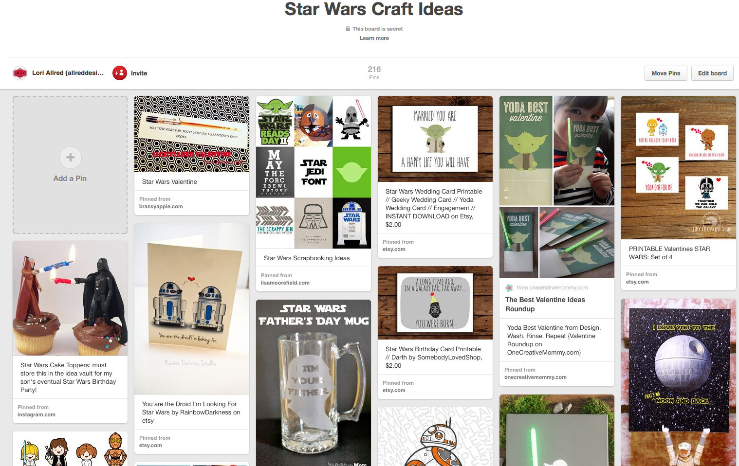 Inspired With Pinterest Star Wars Craft Projects