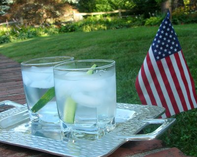 Parade-Day Gin & Tonics with Cucumbers Stirs ♥ AVeggieVenture.com