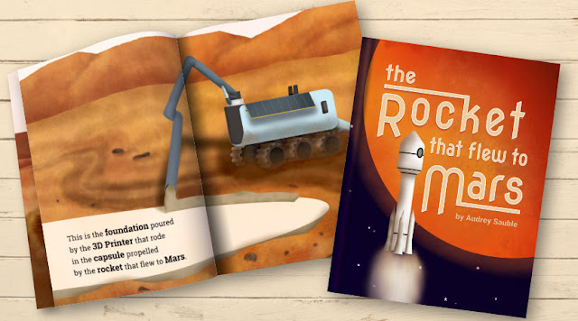 Children's book cover: The Rocket that Flew to Mars