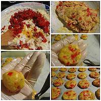 Cookies con pimientos, queso de bola y cominos