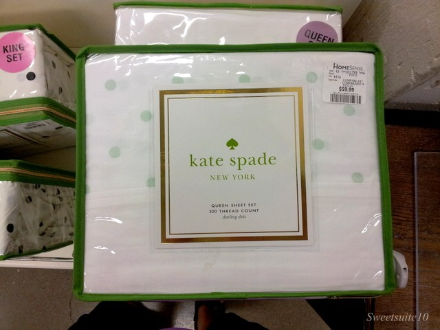 Kate Spade mint polka-dot sheets