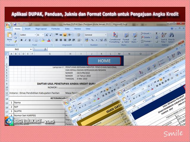 File Aplikasi Pedoman,Blanko Usul Dupak Versi Terbaru 2017