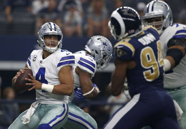 Dak Prescott Dallas Cowboys Los Angeles Rams