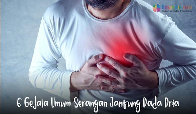 6 Gejala Umum Serangan Jantung Pada Pria