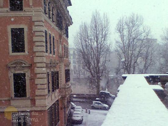 Invierno en Roma con nieve
