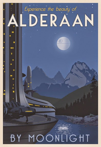 Alderaan  travel poster by Steve Thomas