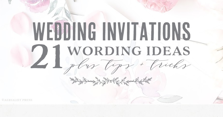 Best Wedding Invitation Wording: Practical Wedding Advice From Top San Francisco Wedding