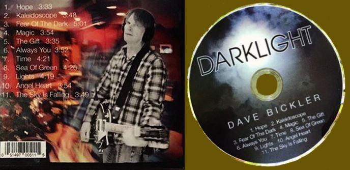 DAVE BICKLER (ex-Survivor) - Darklight (2018) disc