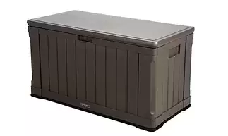 Lifetime 60089 Deck Storage Box 116 gallon, Plastic garden Storage Box, Garden Storage Box, Garden Storage Boxes, Plastic Storage Boxes, Garden Boxes, Plastic Deck Storage Container Box, Keter, Suncast, Rubbermaid, Deck Boxes, Plastic Deck Boxes, Lifetime,