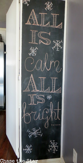 Christmas, holiday, decor, simple, blogger house, kitchen, chalkboard