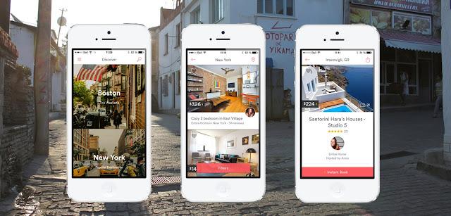 Airbnb;  aplikacja; app; travel app