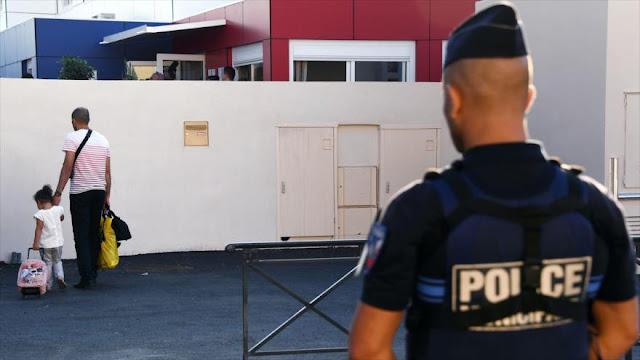 Primer día de clase entre fuertes medidas de seguridad en Francia