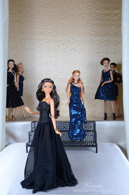Handmade evening dresses for Barbie dolls