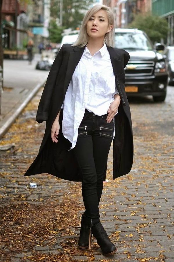 Resultado de imagem para camisa branca e calça preta