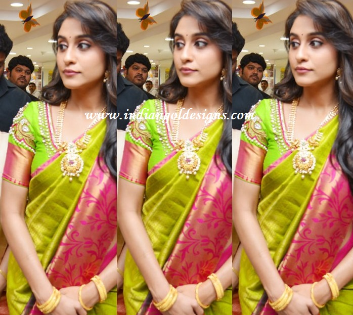 Latest saree designs regina in green silk saree regina in green silk saree altavistaventures Image collections