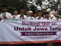 Sukseskan Dakwah Islam, BMH Berbagi Al Qur'an Untuk Jawa Tengah