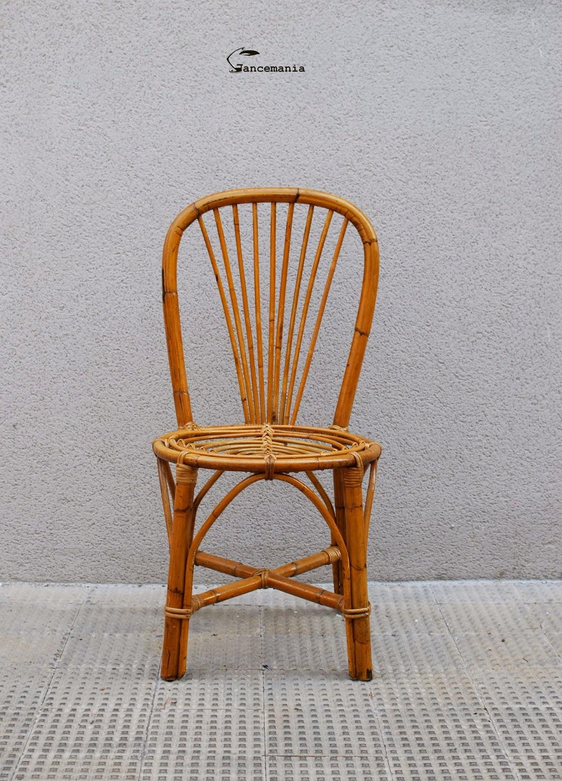 Gancemania mobiliario siglo xx y l mparas fase interior designers sillas mimbre a os 70 - Sillas de bambu ...