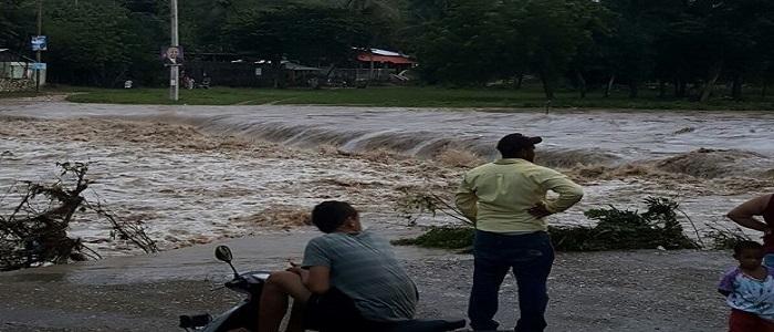 viviendas inundadas por lluvias en RD