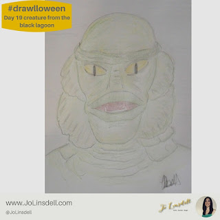 #Drawlloween Day 19 Creature from the Black Lagoon #Drawing #challenge