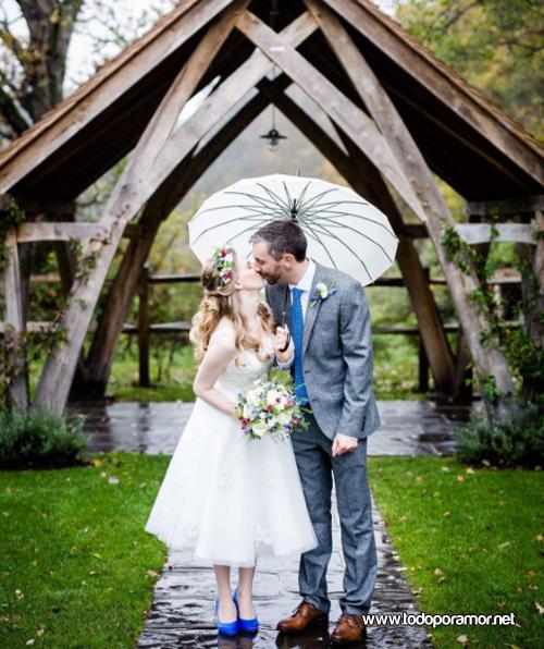 imagenes de bodas bajo la lluvia