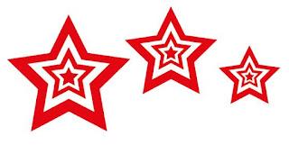 ontwerp sterren voor kerstkaart