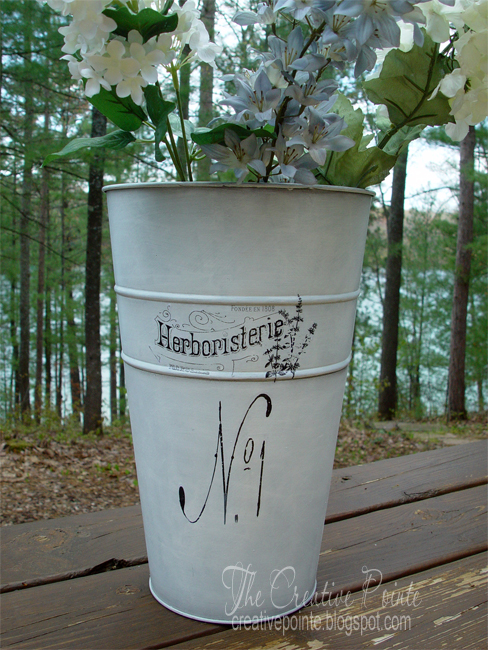 The creative pointe french flower buckets for Large galvanized buckets for flowers