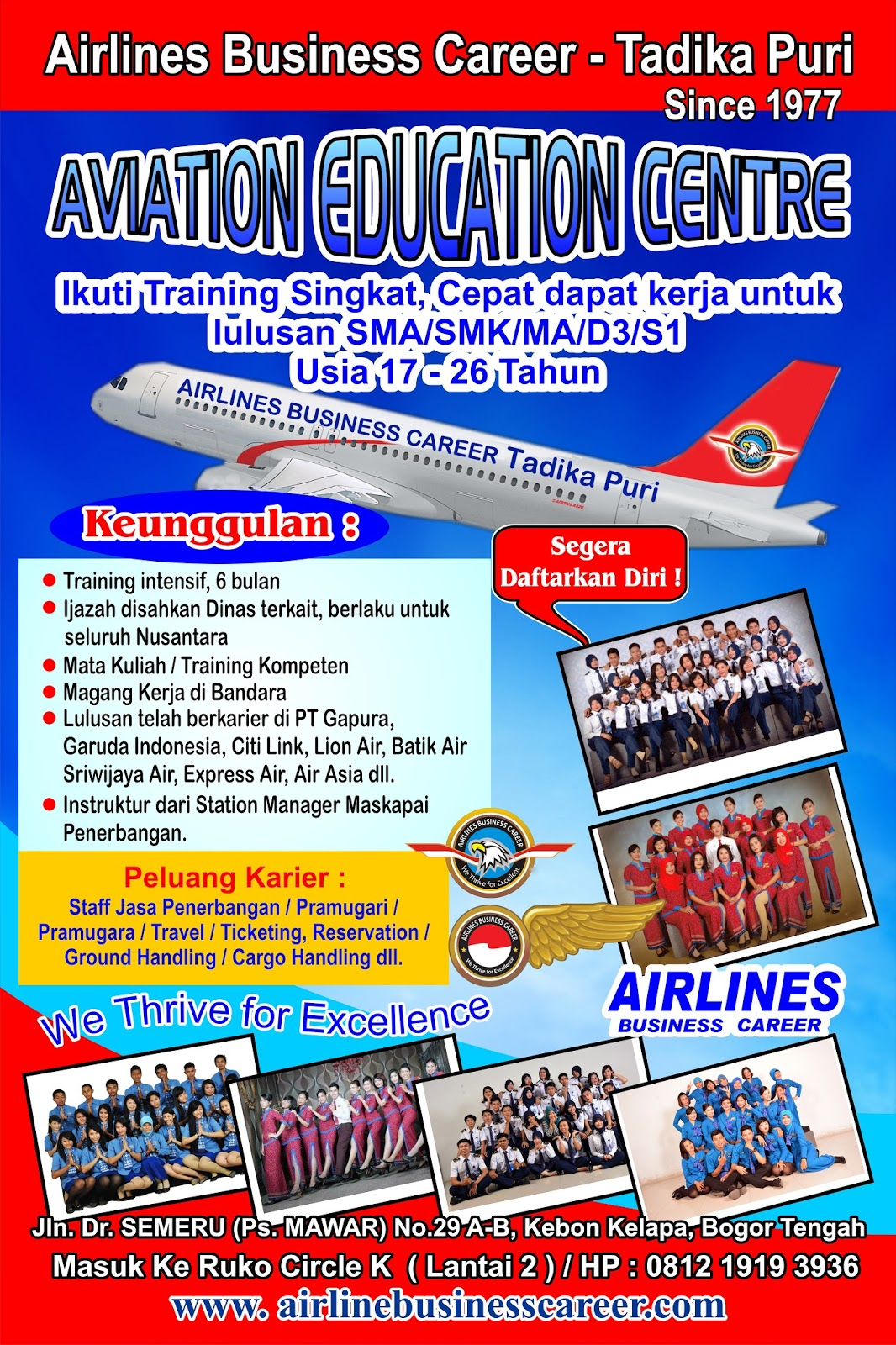 Airlines Business Career Tadika Puri Bogor